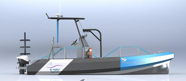 bateau de travail à moteur électrique VALKYRIE BOAT