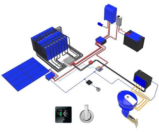 schema motorisation électrique Oceanvolt SD15