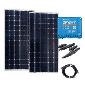 kit complet d'installation de panneau solaire rigide pour bateau