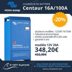 chargeur de batterie 16A-100A Victron Energy Centaur pour bateau