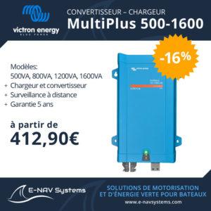 convertisseur chargeur de batterie Victron Energy Multiplus pour bateau