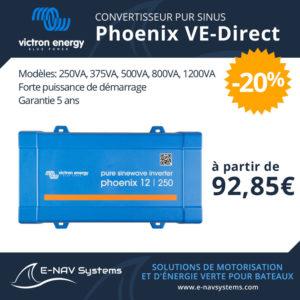 convertisseur pur sinus de batterie Victron Energy Phoenix VE-Direct pour bateau