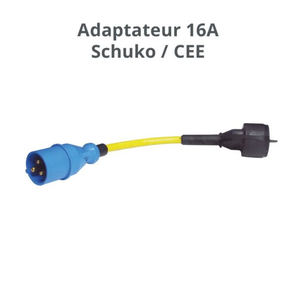 adaptateur shucko 16A CEE