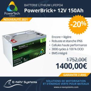 PowerTech batterie Powerbrick 12V pour bateau