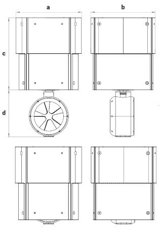 dimensions turbine moteur électrique Bluespin rétractable